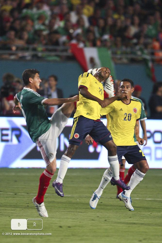SOCCER  2012 - FEB 29 - Mexico vs Columbia